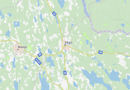 Mapa Plano Eksjö
