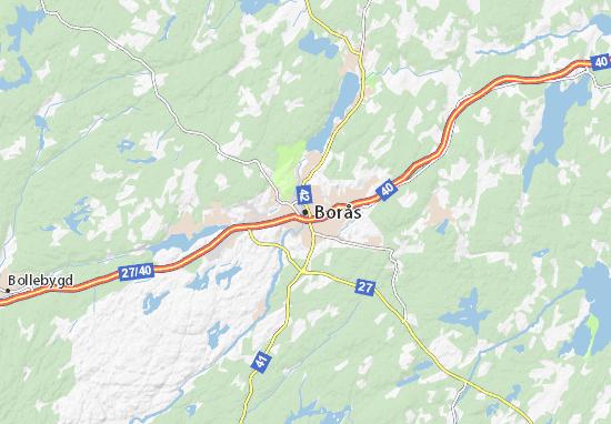 Kaart Plattegrond Borås