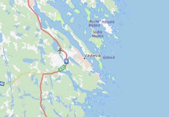 Carte-Plan Västervik