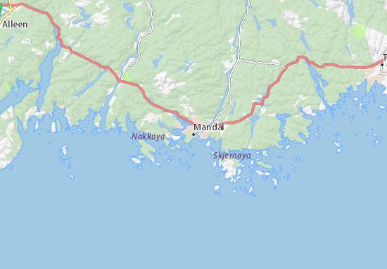 Karte Stadtplan Mandal