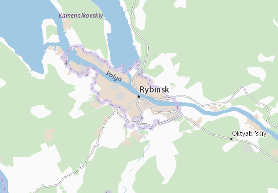 Mapa Plano Rybinsk