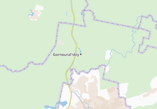 Kaart Plattegrond Gornoural'skiy