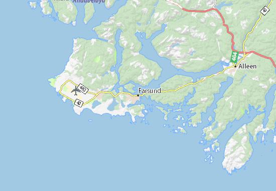 Kaart Plattegrond Farsund