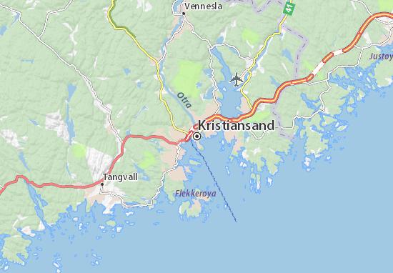 Carte-Plan Kristiansand
