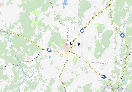Kaart Plattegrond Falköping