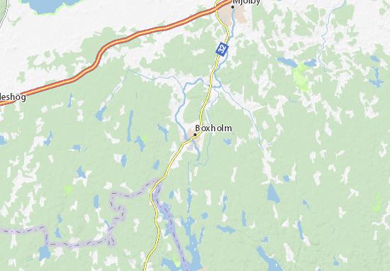 Boxholm Map