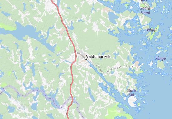 Kaart Plattegrond Valdemarsvik