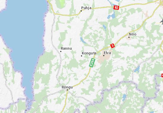 Kaart Plattegrond Konguta