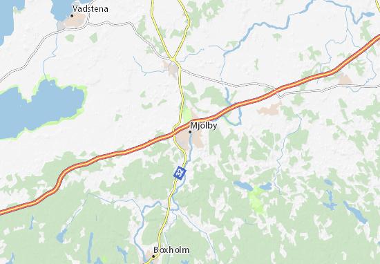 Mapa Plano Mjölby