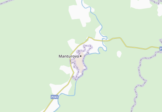 Carte-Plan Manturovo