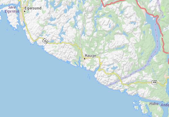 Mapa Plano Hauge