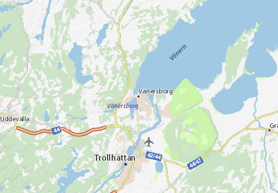 Kaart Plattegrond Vänersborg