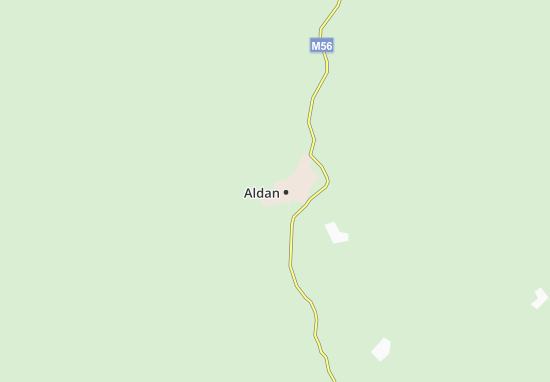 Carte-Plan Aldan