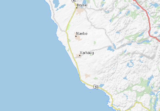 Karte Stadtplan Varhaug