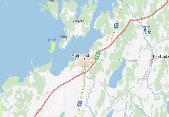 Kaart Plattegrond Mariestad