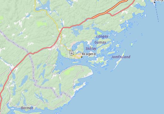 Kragerø Map