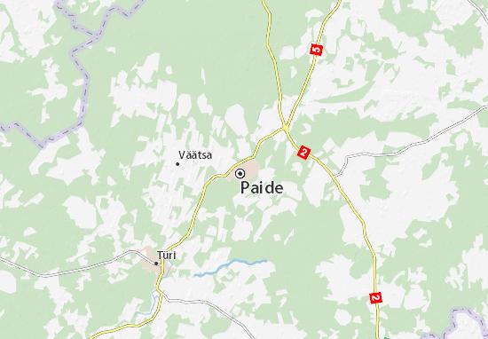 Carte-Plan Paide linn