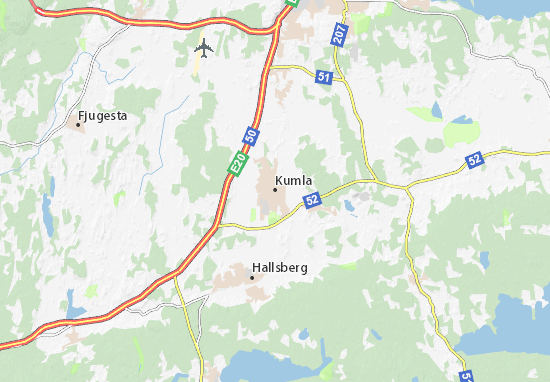 Mapa Plano Kumla