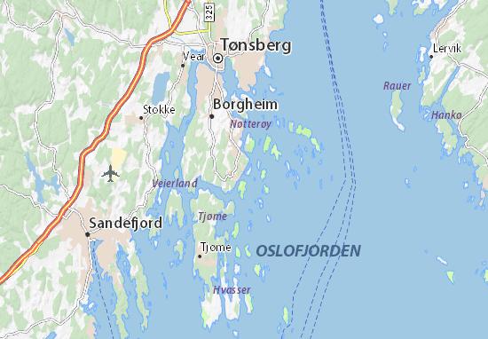 Kaart Plattegrond Årøysund