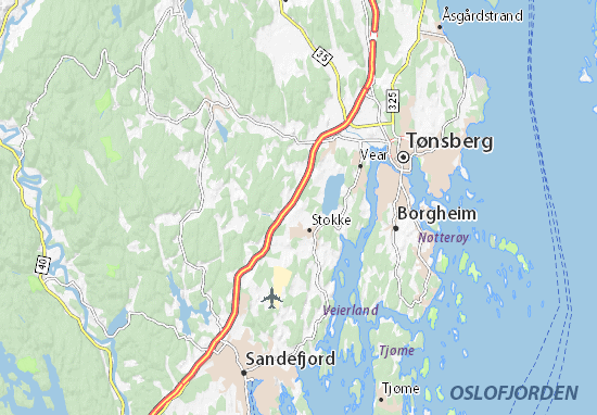 Map Of Borgheim Michelin Borgheim Map ViaMichelin - Norway map sandefjord