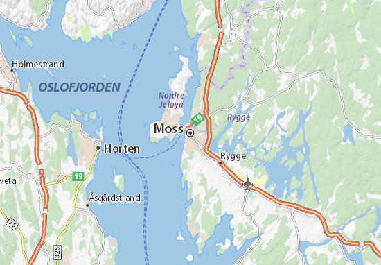 Kaart Plattegrond Moss