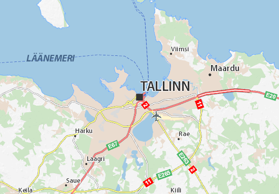 Tallinn Map Detailed Maps For The City Of Tallinn ViaMichelin - Tallinn map