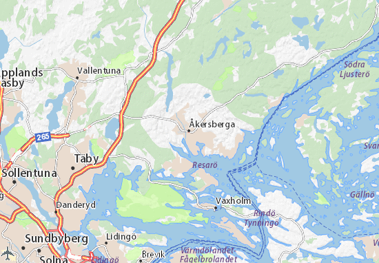 Åkersberga Map