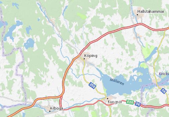 Kaart Plattegrond Köping