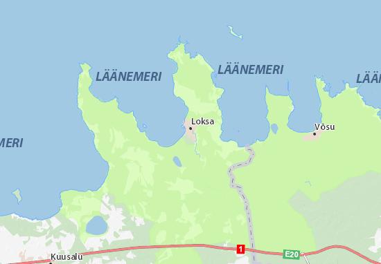 Loksa linn Map