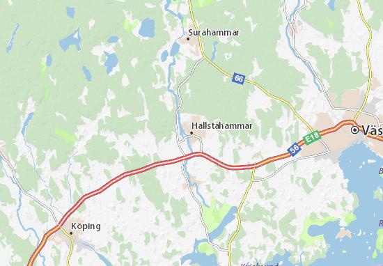 Hallstahammar Map