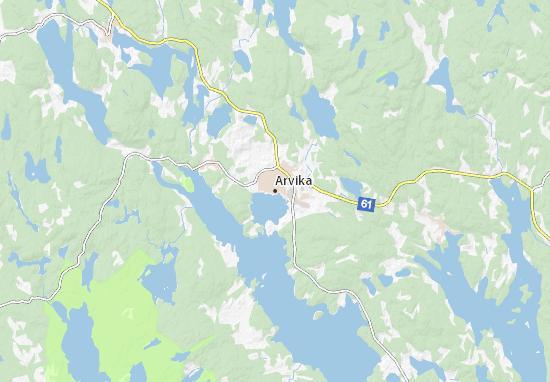Carte-Plan Arvika
