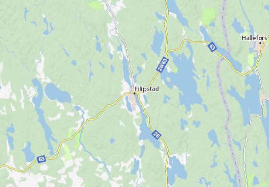 Mapa Plano Filipstad