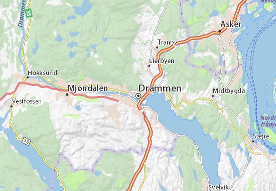 Karte Stadtplan Drammen