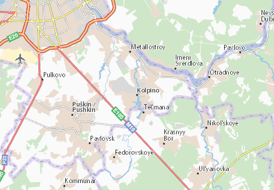 Kolpino Map