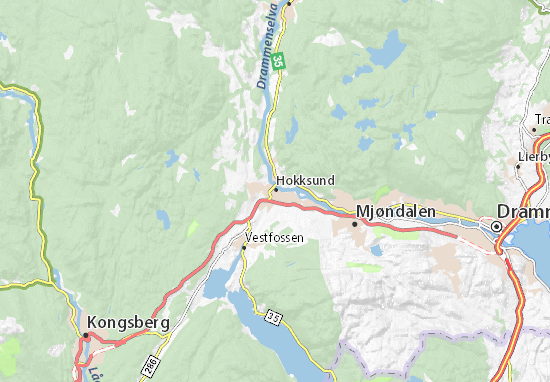 Hokksund Map