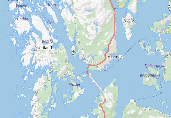 Kaart Plattegrond Sagvåg