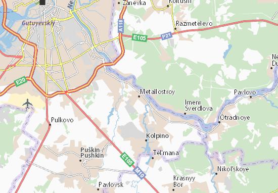 Mapas-Planos Metallostroy