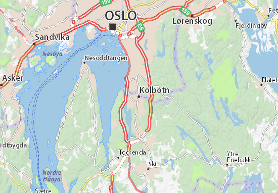 Carte-Plan Kolbotn