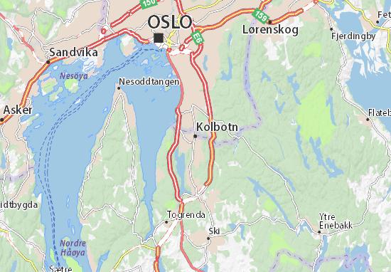 Karte Stadtplan Kolbotn