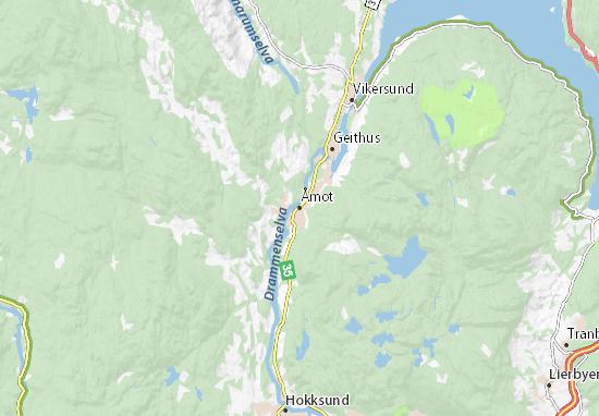 Kaart Plattegrond Åmot