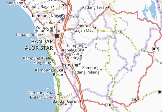 Kaart Plattegrond Kampung Alor Pering