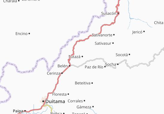 Carte-Plan Tutazá
