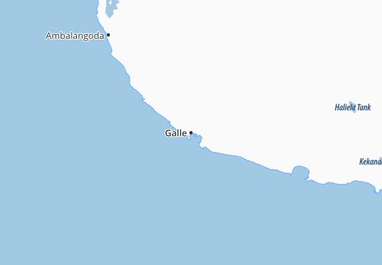 Kaart Plattegrond Galle