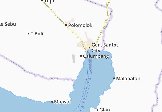 Karte, Stadtplan Calumpang - ViaMichelin