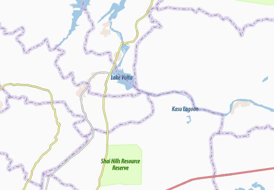 Kaart Plattegrond Akuse