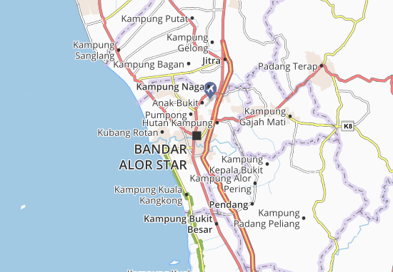 Bandar Alor Star Map
