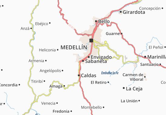 Itagüí Map