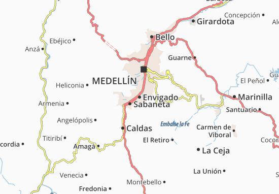 Mappe-Piantine Envigado