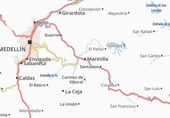 Carte-Plan Marinilla