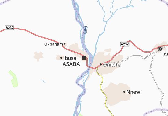 Carte-Plan Asaba